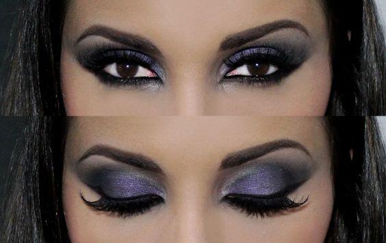 Maquiagem Noite | Maquiagem roxa | Delineado | Tutorial Look Inspiração Evil Queen | Paleta das Vilãs da Vult Por Juliana Balduino