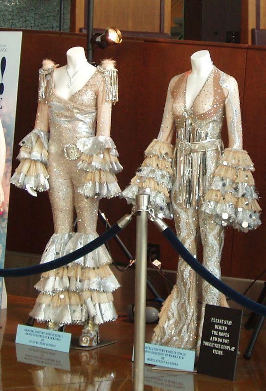 mamma mia the movie costumes on display  movie