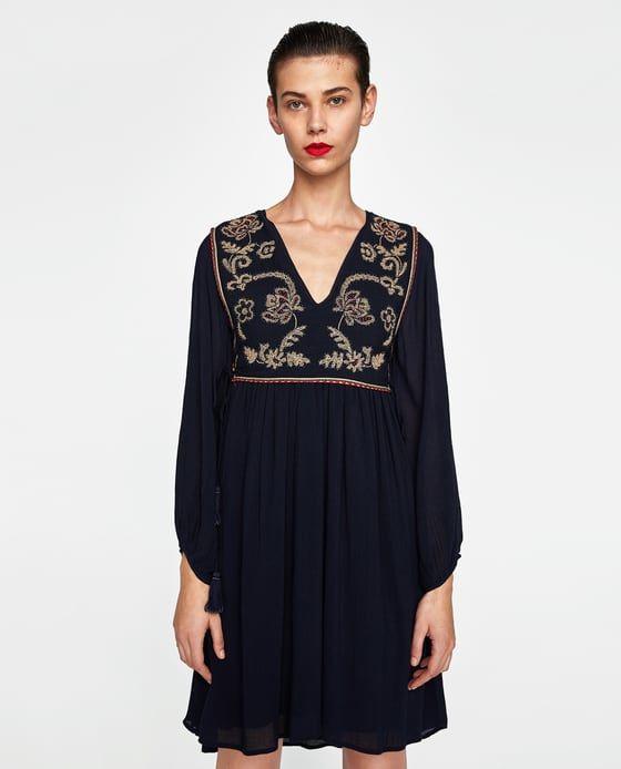 Image 3 De Embroidered Waistcoat Dress De Zara Bib Dress Dresses Fashion Costume