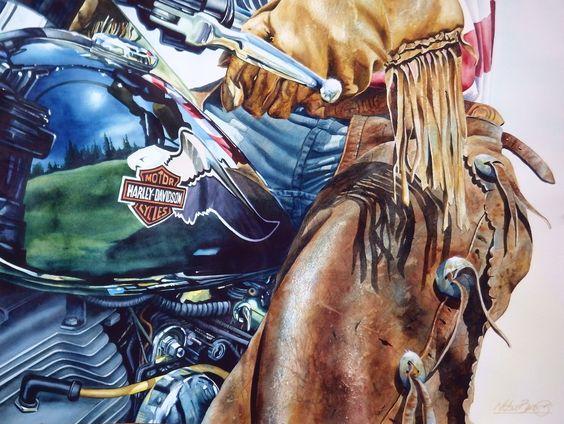 Riding Hard ~ Nelson Boren Art
