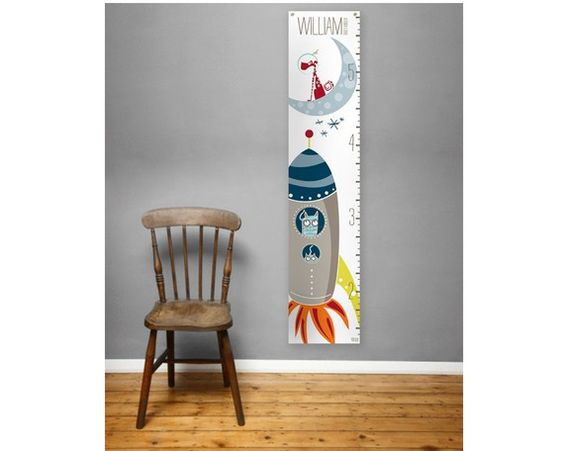 Personalized Growth Chart Galactically Grown by milkmoonkids, $49.00