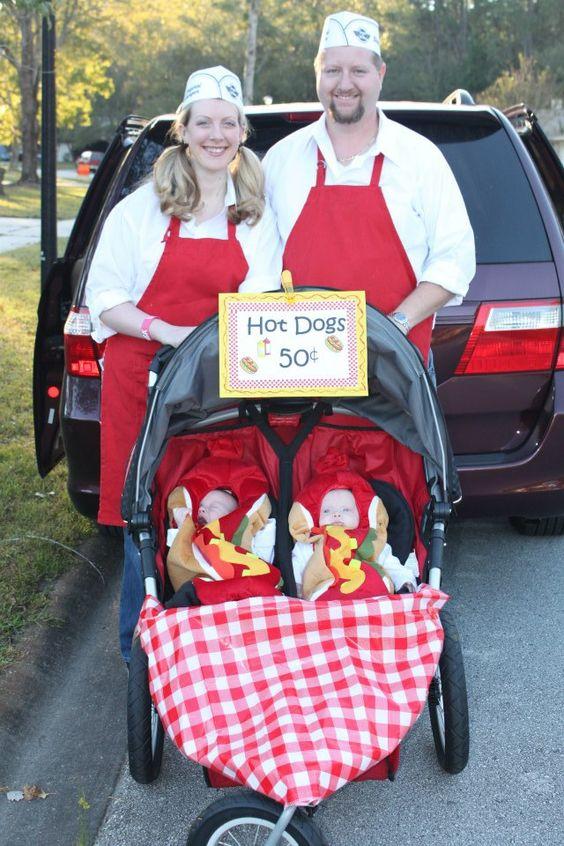 Hot dogs Halloween and Twin halloween on Pinterest