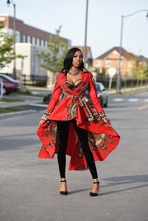 Red African print dress Jacket Royal Java print ~African fashion, Ankara, kitenge, African women dresses, African prints, Braids, Nigerian wedding, Ghanaian fashion, African wedding ~DKK: