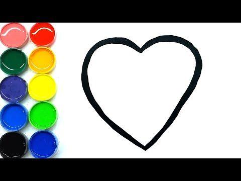 Cara Menggambar Dan Mewarnai Hati Cinta Sangat Mudah Untuk Anak
