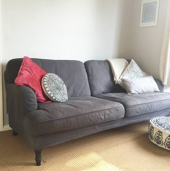 Finding The Perfect Sofa Emily Shaw Affordable Sofa Living Room Green Ikea Stocksund