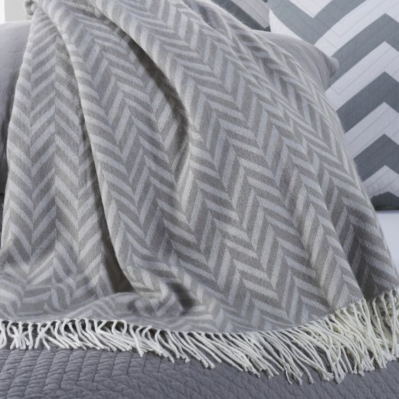 Happy Chic by Jonathan Adler Chevron Throw with Fringe $25