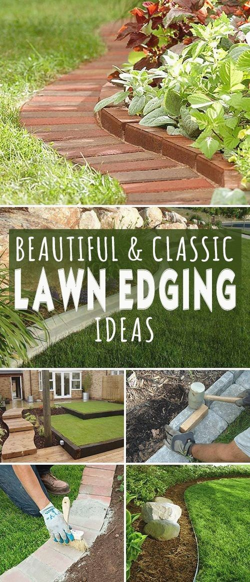 31 Best Border Garden Ideas To Dress Up Your Landscaping Edging With Images Backyard Landscaping Lawn Edging Outdoor Gardens