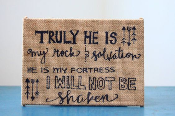Hand Lettered 7.5 x 5.5 Burlap Canvas by MoreThanTheSparrow26