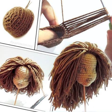 How to tie Amigurumi Doll Hair | 474x474