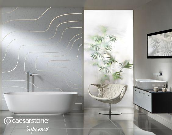 Caesarstone Swan Lake bath