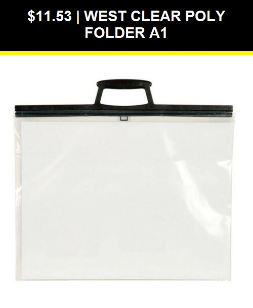West A1 Clear Poly Folio Art Work Painting Folder Bag A1