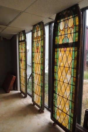 These could look sweet next to the entry in the vestibule up front.