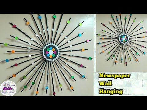 Hanging Wall Decor Newspaper Craft Home Decor Diy Handmade