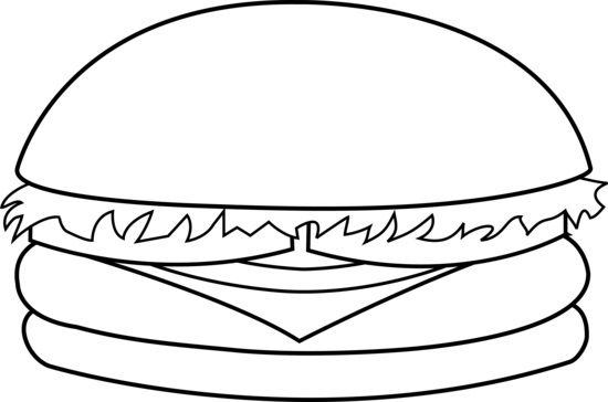 Hamburger Coloring Pages Coloring Pages For Kids Food Coloring