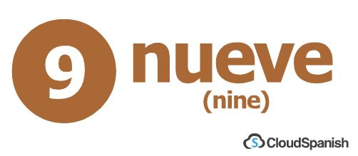 nueve (nine)