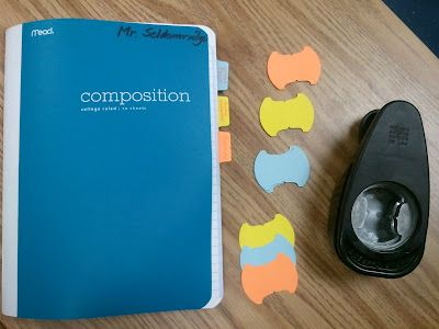 Index tab hole punch - create your own tabs for journals/notebooks from cardstock