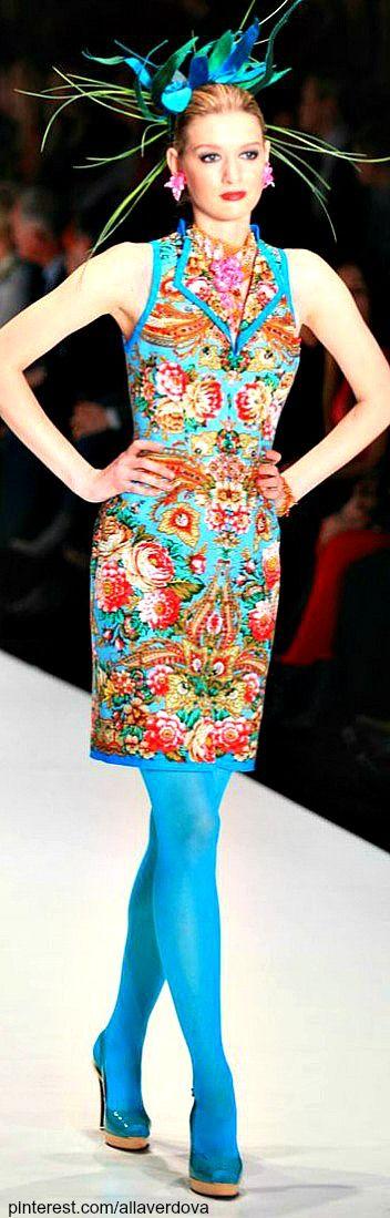 Color fashion Glam                                              Russian designer Slava Zaitsev