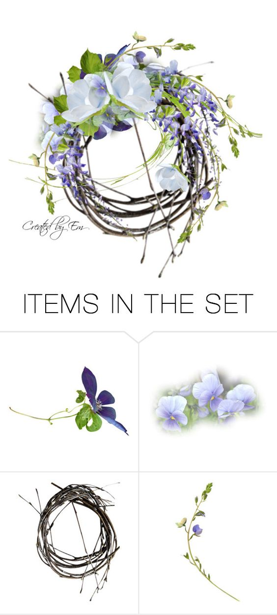 """""""Blue Wreath"""" by emjule ❤ liked on Polyvore featuring art"""