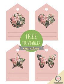 clear colours: Floral tags printables / Tarjetas florales imprimibles