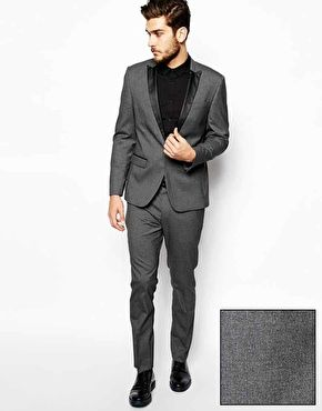 ASOS Slim Fit Tuxedo in Charcoal featured in our 'Neil Patrick