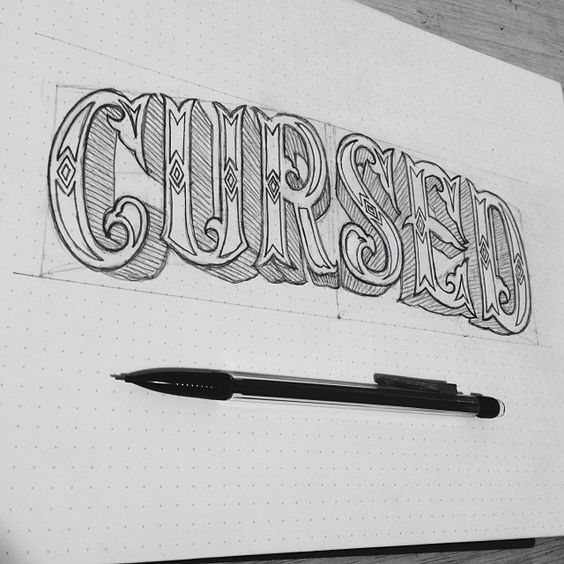 Hand Lettering By Eric Way Cursed Circus Carnival Type