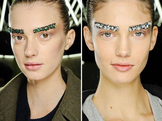 jeweled brows :: chanel