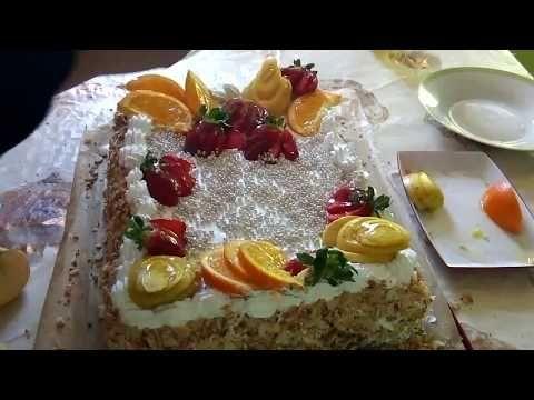 اسهل طريقة لعمل جينواز ناجحة مع طريقة تزيين طورطة عيد ميلاد Youtube Food Desserts Cake