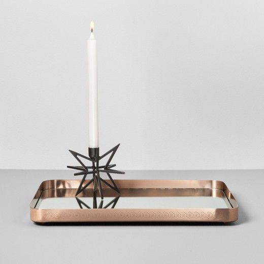 Adding A Flashy Touch To Your Home Decor Is Easy With The Round Mirrored Copper Tray From Hearth Han Rectangle Mirror Copper Tray Hearth Hand With Magnolia