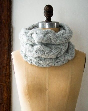 Free Knitting Pattern For Braided Cowl : Braided Cable Cowl Purl Soho - Create Crochet & Knitting Pinterest ...