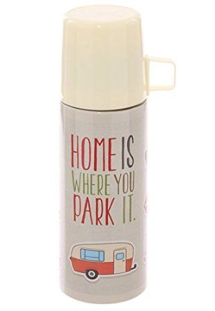 Vintage Caravans Stainless Steel Thermos Flask With Cup (350ml)