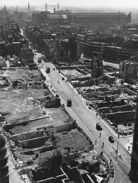 View from St Paul's Cathedral, 1942