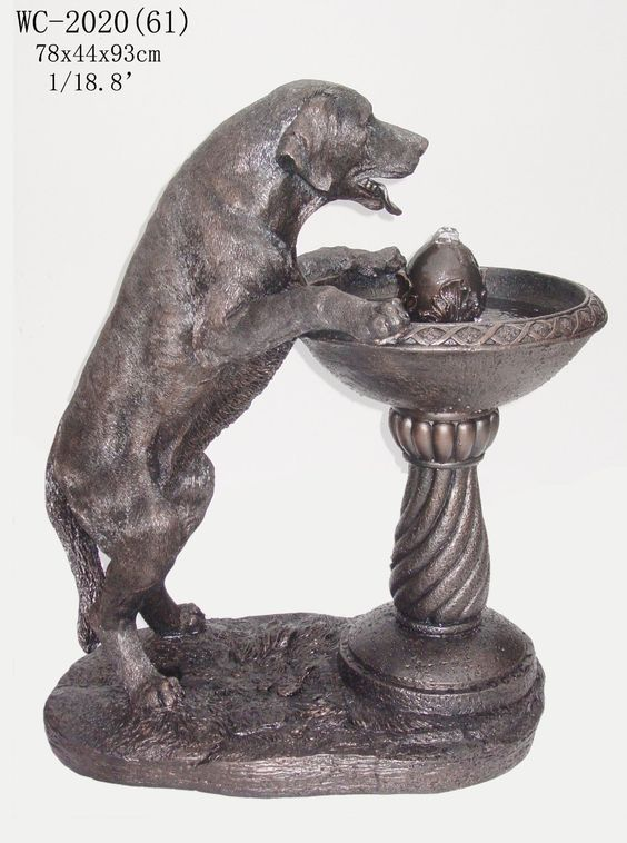 A great way to accent your yard. Add the soothing sound of water to your outdoor environment with an animal water fountain. Design Toscano Bright Waters Otters Garden Fountain Labrador Dog Statue S…