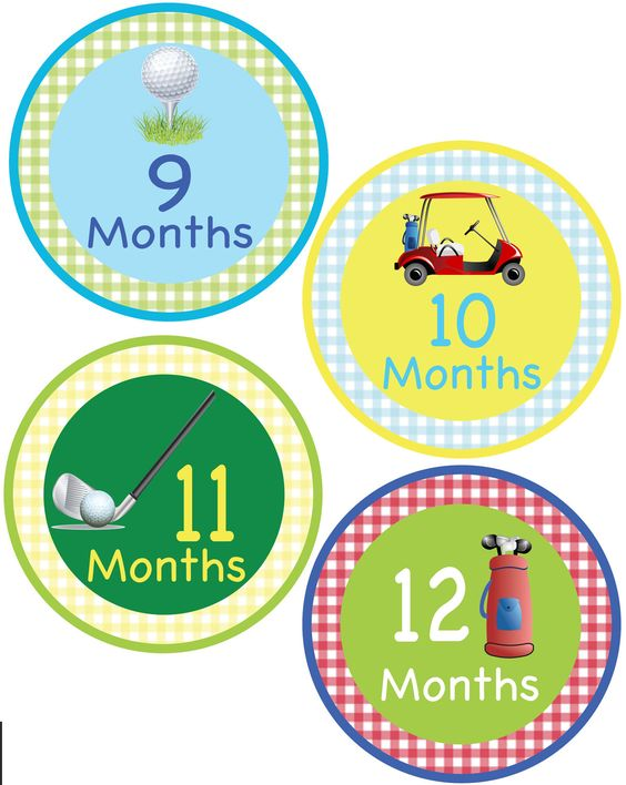 Monthly Onesie Stickers - Golf Theme - For a baby girl or boy 1-12 months -  Perfect Gift for Mom to Be. $8.95, via Etsy.