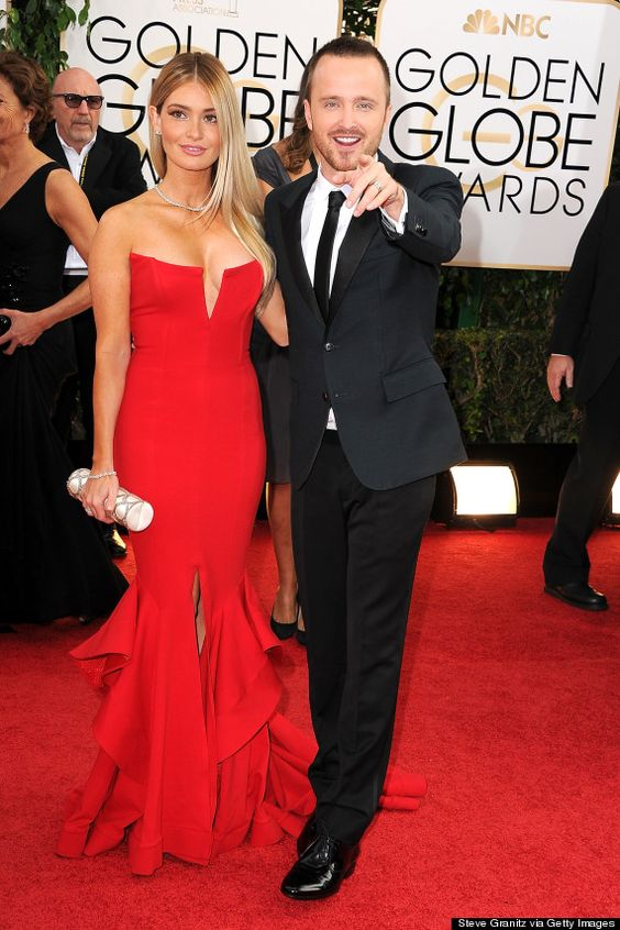 Aaron Paul from Breaking Bad with wife Lauren Parsekian at the Golden Global Awards 2014~♛