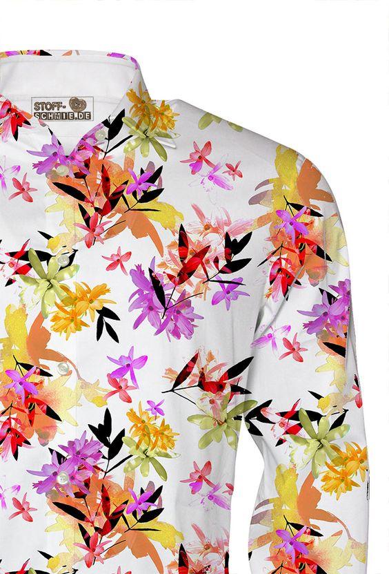 Herrlicher Print, z.B. für erstklassige Hemden auf dem Baumwoll Popeline -> https://www.stoff-schmie.de/hilfe/faq/24350