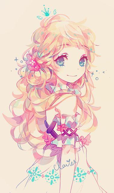 """Résultat de recherche d'images pour """"manga fille couleur douce"""""""