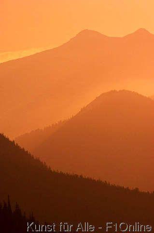 Aufgestapelte Wirkung, Atmosphärische Perspektive, Kanadische Rocky Mountains