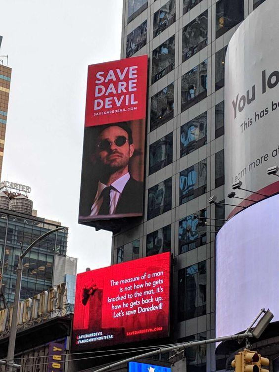 Daredevil Billboard featuring Charlie Cox