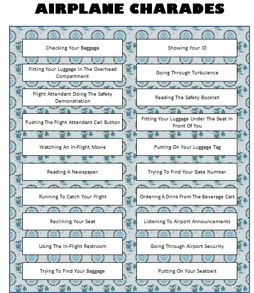 Pictures of Charades For Kids Printable - #rock-cafe