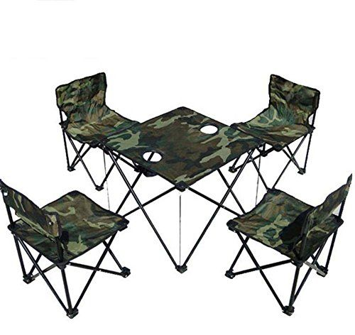 Portable Folding Chair Outdoor Folding Table Chair Set 5 Pcs Camouflage Portable Collapsible Table And C Fishing Chair Folding Table Desk Outdoor Folding Table