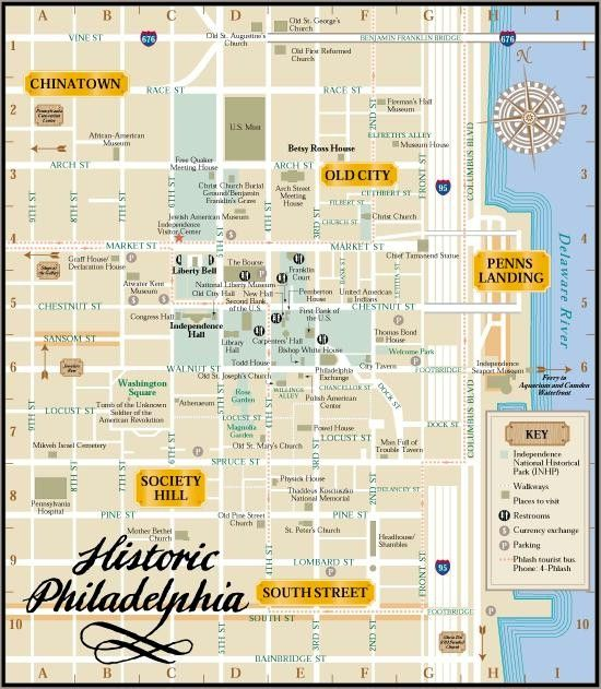 PhiladelphiaWalkingMapofAttractions – Tourist Map of Philadelphia