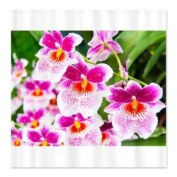 Cattleya White And Pink Orchids Shower Curtain JUST SOLD! #showercurtain #bathroomdecor #orchids #cafepress #orchids $40.49