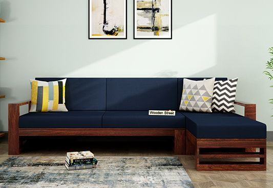 Check Out L Shape Sofa Set Design Variants Wooden Street L Shaped Sofa Designs Living Room Sofa Design Wooden Sofa Designs
