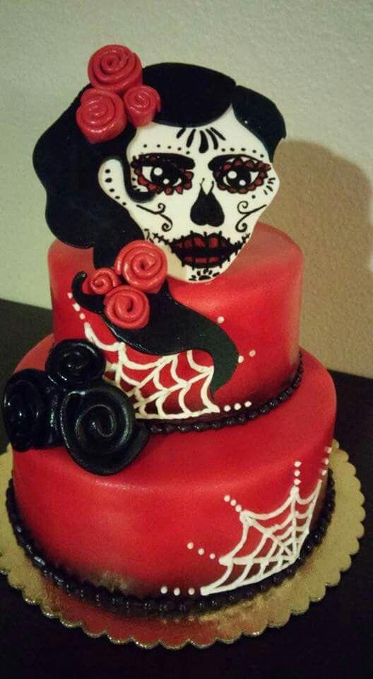Dia de los muertos cake https://www.facebook.com/roartasticdesserts/