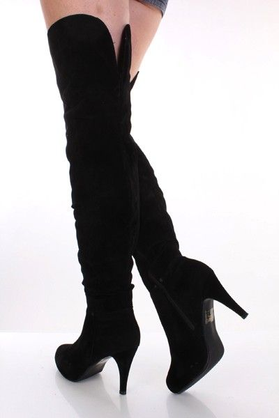 Ladies High #Heel #Stiletto Platform Fur Knee High Boots Size with ...