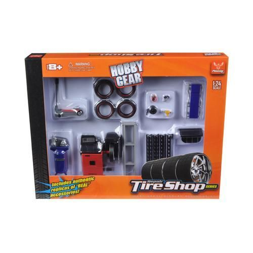 Tire Brigade Shop 4-Piece Tool Set blau 1:18 MotorHeadMiniatures