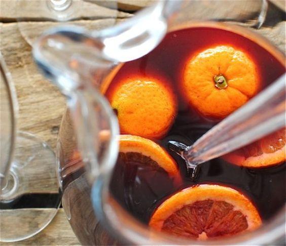 Mulled Red Wine Sangria!  Um, yes please!