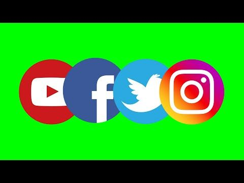 Free And Simple Green Screen Social Media Icons No Copyright Without Names Ids For Designers Youtube Greenscreen Web Banner Design Social Media Icons