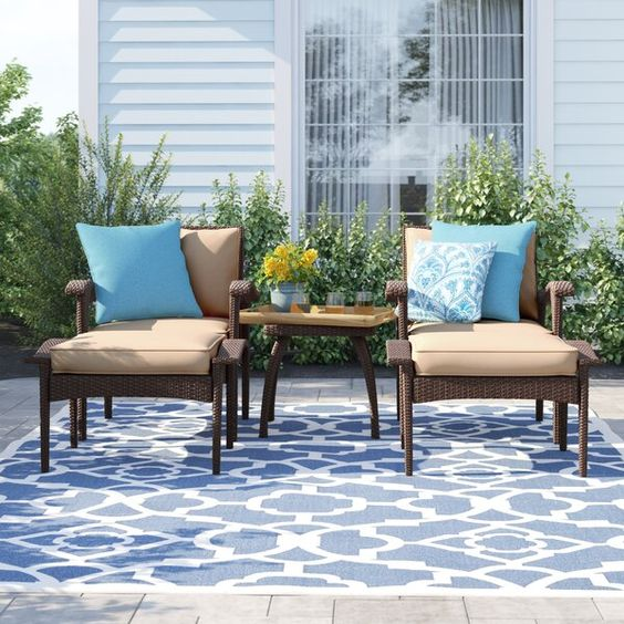 Sol 72 Outdoor Beacon 5 Piece Conversation Set with Cushions & Reviews | Wayfair