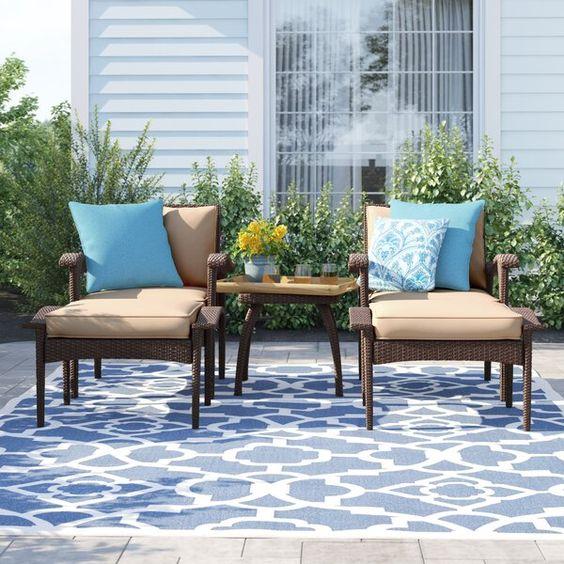 Sol 72 Outdoor Beacon 5 Piece Conversation Set with Cushions & Reviews | Wayfair